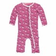 Kickee Pants | Coverall: Flamingo Rainbow
