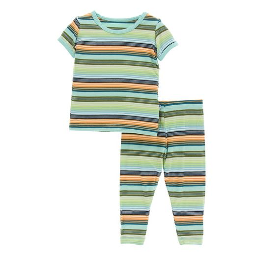 Kickee Pants | Pajama's: Cancun Glass Stripe