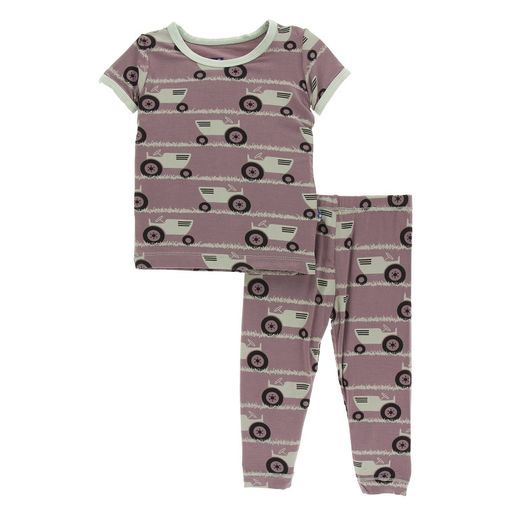 Kickee Pants | Pajama's: Raisin Tractor & Grass