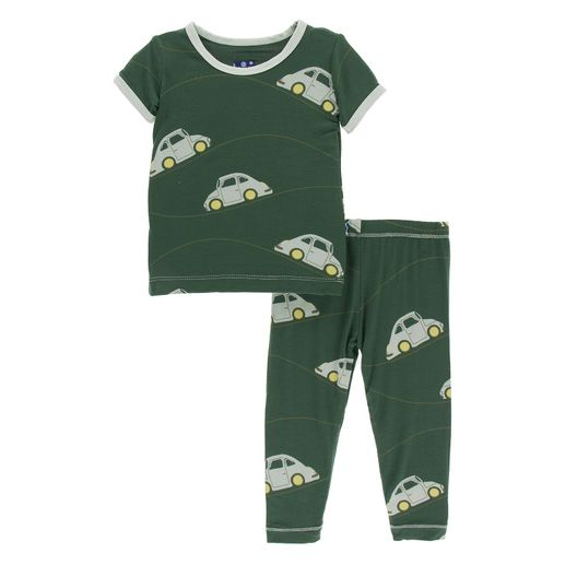 Kickee Pants | Pajama's: Topiary Italian Car
