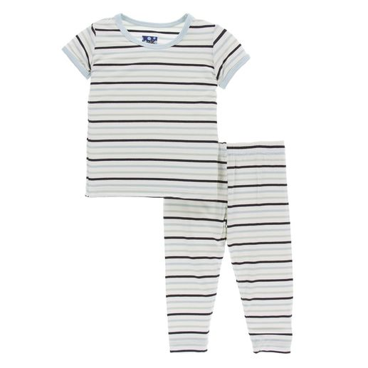 Kickee Pants | Pajama's: Tuscan Afternoon Stripe