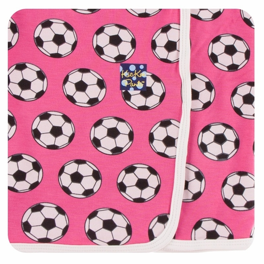 Kickee Pants | Swaddle: Flamingo Soccer