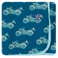 Kickee Pants | Swaddle: Heritage Blue Motorcycle