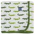 Kickee Pants | Swaddle: Natural Crocodile