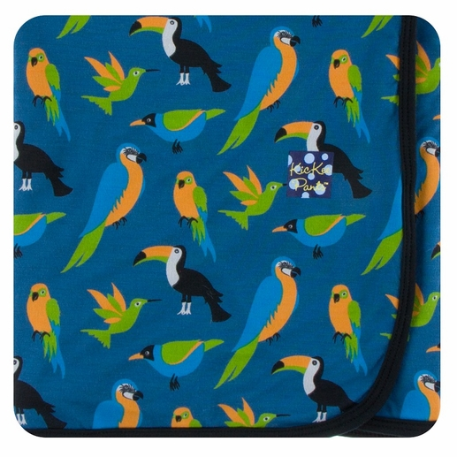 Kickee Pants | Swaddle: Twilight Tropical Birds