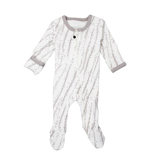 L'ovedbaby | Footie: Light Gray Willow