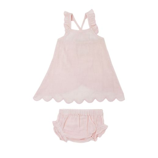 L'ovedbaby | Muslin Tunic & Bloomer Set: Blush