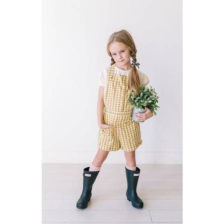 Lemon & Lucy | Gingham Pocket Overalls