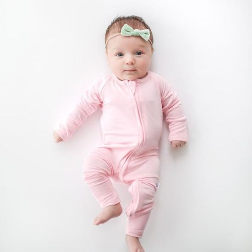 Little Sleepies | Pink Converter Romper
