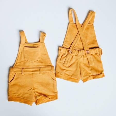 Orcas Lucille | Goldenrod Short Overalls