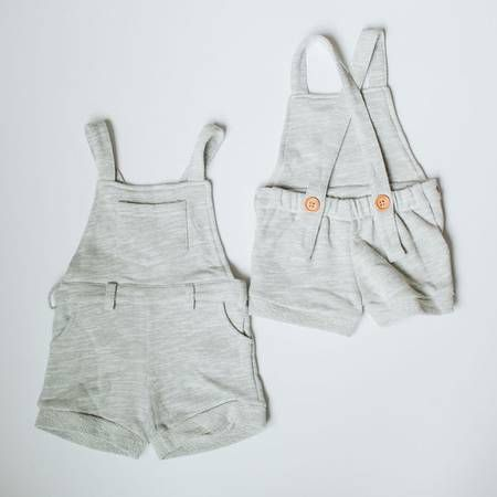 Orcas Lucille | Heather Grey Short Overalls