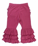 RuffleButts | Heather Mulberry Ruffle Pants