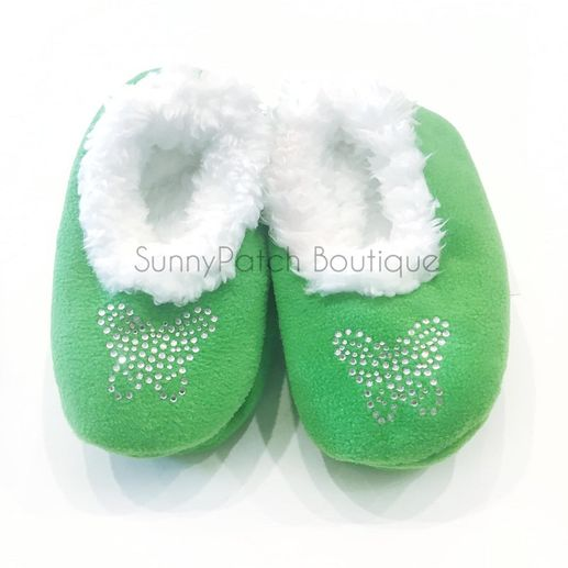 Snoozies: Toddler - Green Butterfly Rhinestone
