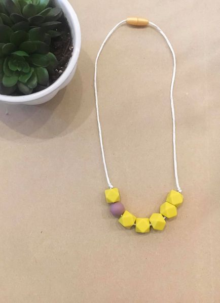 Teething Necklace | Child Mustard