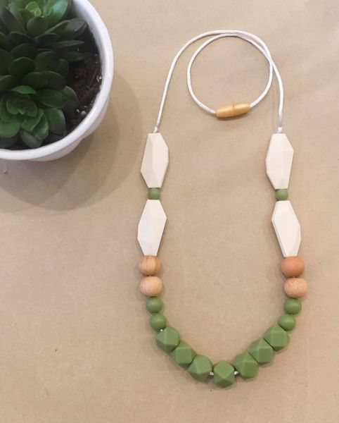 Teething Necklace | Olive Geo