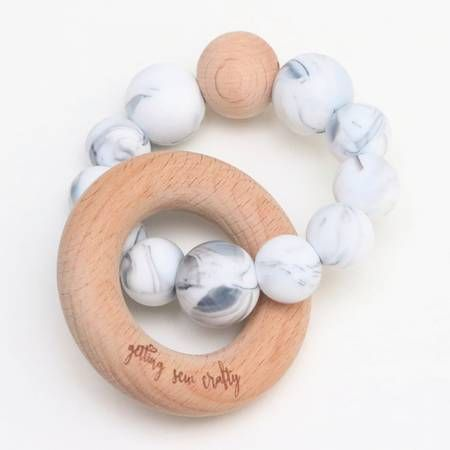 Teething Rattle | Marble