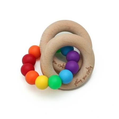 Teething Rattle | Rainbow