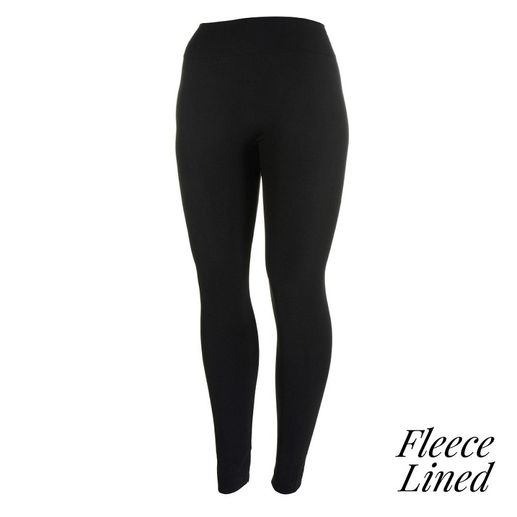 Women's Fleece-Lined Leggings | Black