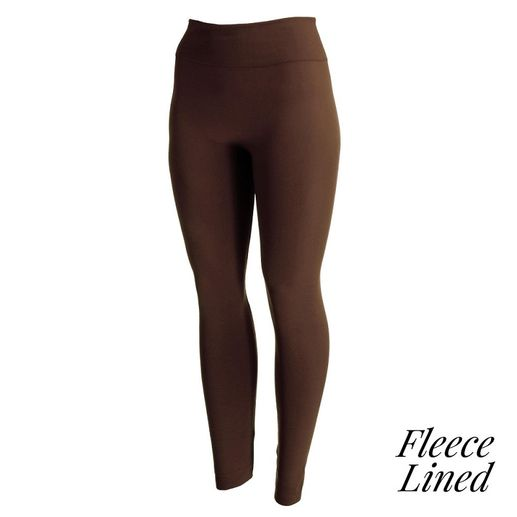 Women's Fleece-Lined Leggings: Dark Brown