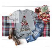 Women's | Joy, Hope, Love Christmas Tee