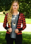 Women's | Snap Cardigan: Buffalo Plaid
