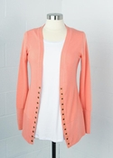 Women's | Snap Cardigan: Sugar Coral