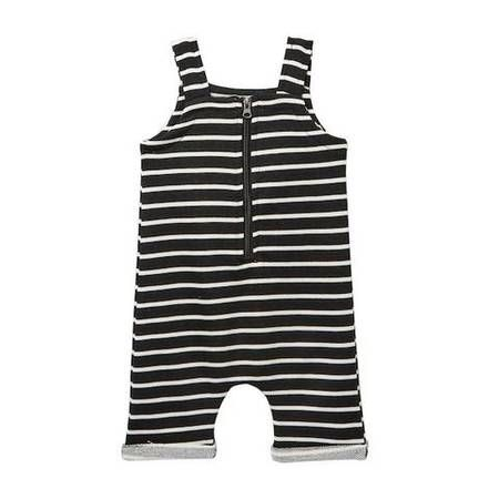 Young + Free | Black Stripe Romper