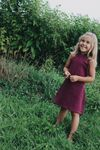 Young + Free   Burgundy Play Dress
