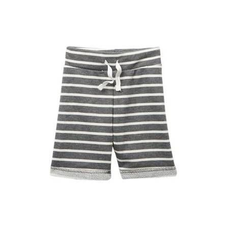 Young + Free | Gray Stripe Shorts
