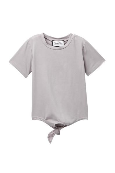Young + Free   Gray Tie Top
