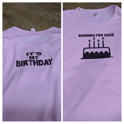 Add a design cake front / birthday back
