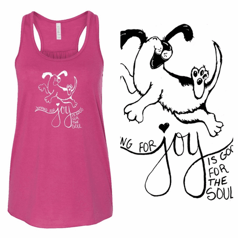 Add a design Jump for joy with paws on the back