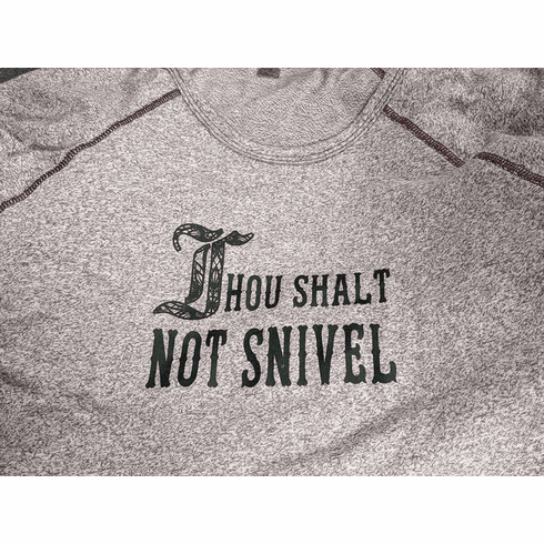 Add a design Thou Shalt NOT Snivel