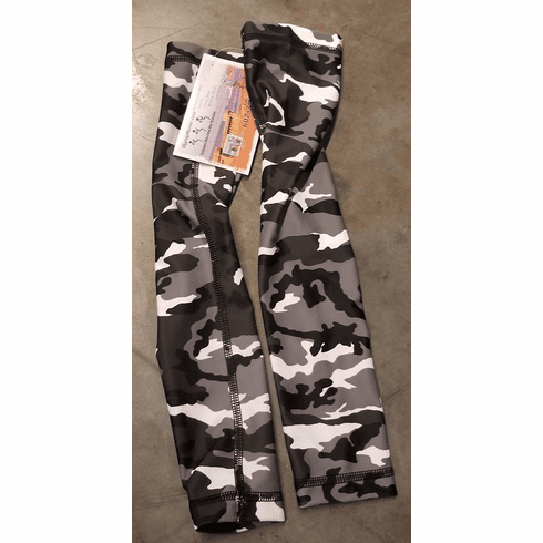 Arm Sleeves Black and White Camo