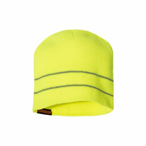 Beanie with reflective stripes