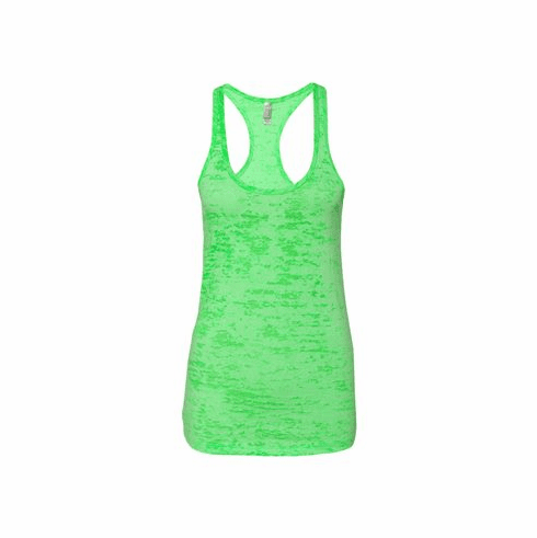 Burnout tank neon green