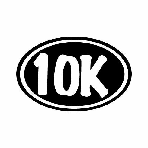 "Window Decal 5"" oval 10k"