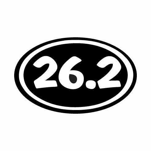 "Window Decal 5"" Oval 26.2"