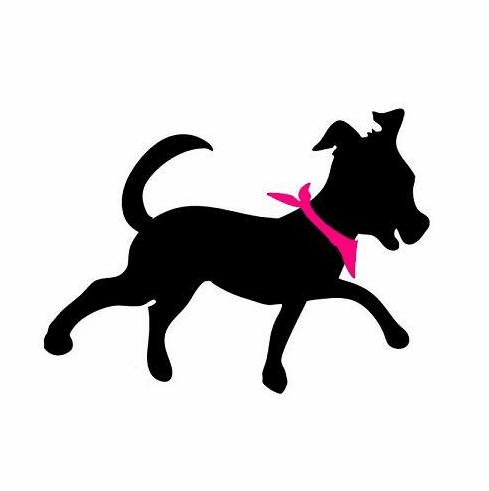 Window decal running dog