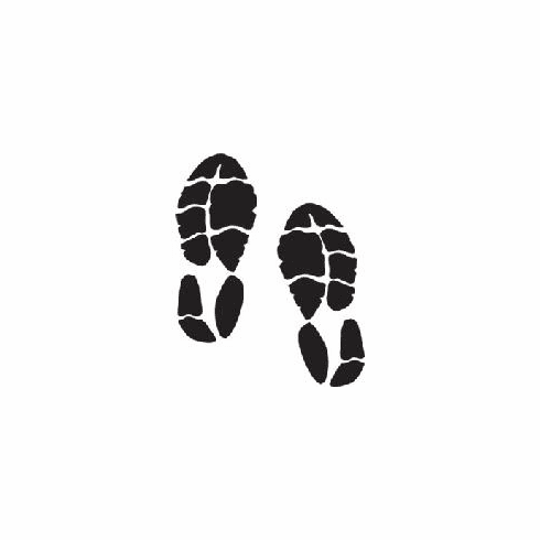 Window Decal Running Shoes