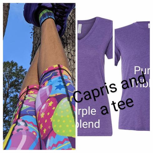 Double Pocket capris and a tee shirt combination