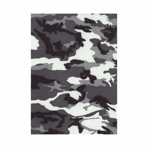 Double Pocket Capris Black and White Camo