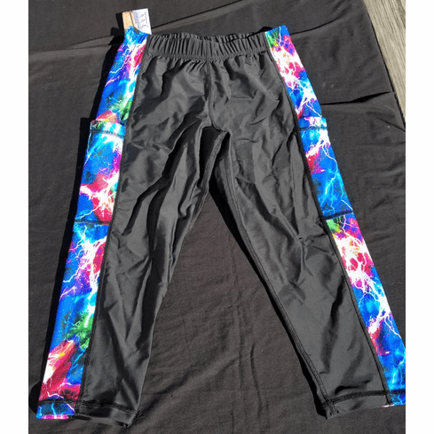 Double Pocket Capris black with lightening - stocked