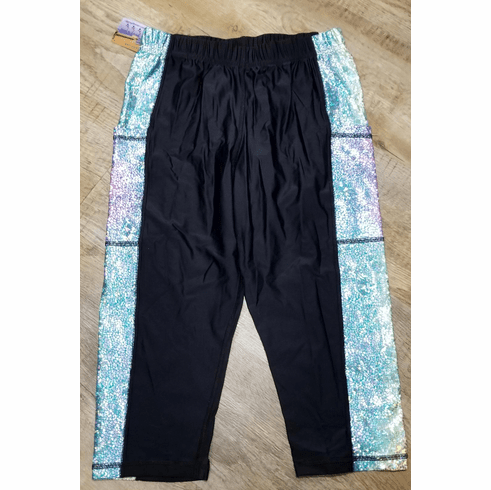 Double Pocket Capris Black with Reflective Panel