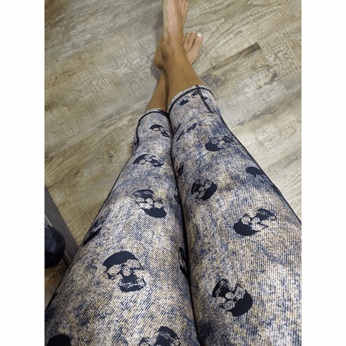 Double Pocket Capris Denim Skull