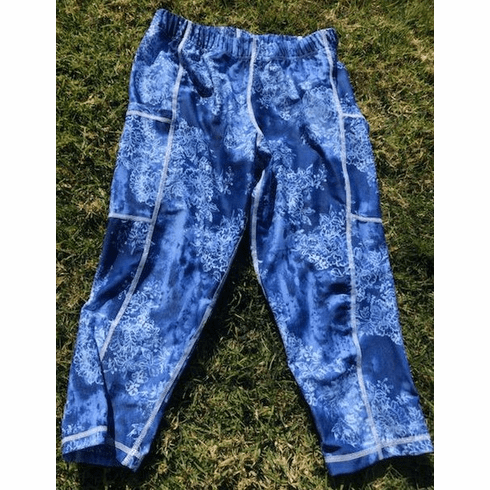 Double pocket capris denim with lace stocked
