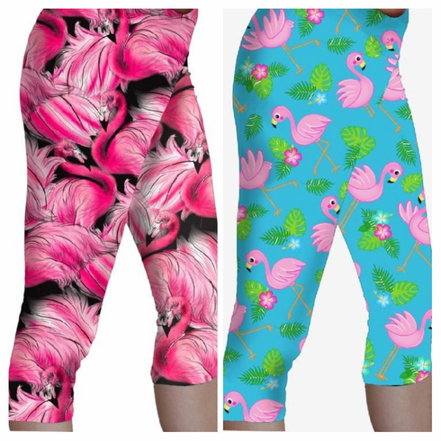 Double pocket capris flamingo