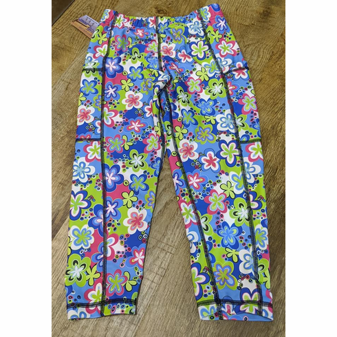 Double pocket capris flower power