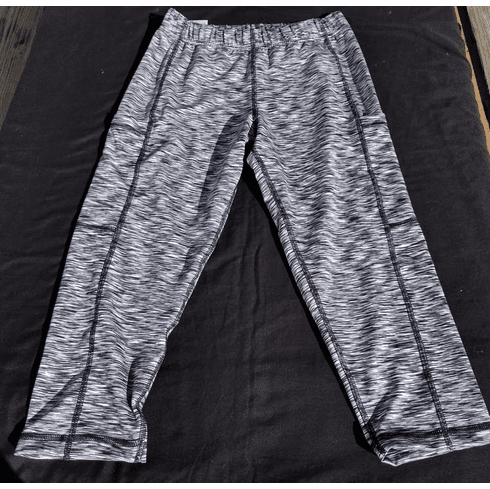 Double Pocket Capris Gray Heather