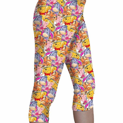 Double pocket capris pooh and friends